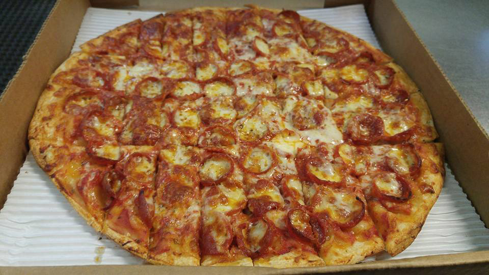 Thin Pepperoni and Banana Peppers Pizza in Grandview